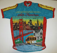 San Francisco 1/2 Zip Cycling Jersey Canari New without Tags Men's Size XXL