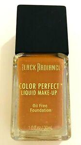💋 BLACK RADIANCE Color Perfect Liquid Makeup #8414 All Skin Brownie Brown