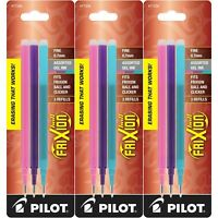 Pilot Refills for Frixion Erasable Gel Ink Pens, Fashion Assorted, Pack of 9 ...