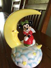 "Schmid Walt Disney Music Box Minnie Mouse spinning on Moon ""Joy To the World"""