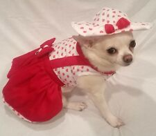 Harness dress/dog dress/dog clothes/Red Heart Lady Love /XS,S,M,L XL/FREE SHIP