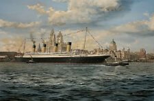 RMS Olympic Liverpool White Star Line Ocean Liner Marine Painting Art Print