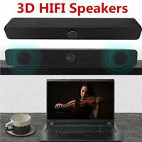 Wired Heavy Bass Sound Bar Speaker System TV Home Theater Soundbar w/ Subwoofer