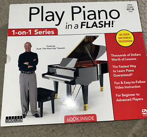 Play Piano In A Flash Learn To Play Piano 1-on-1 Series DVD Video Brand New Seal