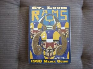 St. Louis Rams 1996 Official NFL Media Guide-NEW