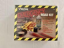 VINTAGE ROADSIDE EMERGENCY KIT BATTERY CABLES FLARES etc New Sealed L Prop