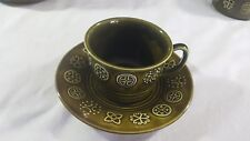 Lord Nelson Pottery Moss Green Cup and Saucer Duo