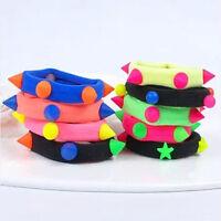 10X Fluorescent Rope Ring Hairband Women Girls Hair Band Ponytail Holder FD