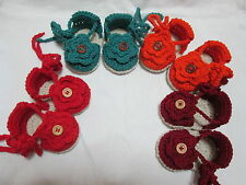 Sandali neonata- Espadrillas neonata/Scarpe uncinetto neonata 0/3