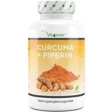 Curcuma + Piperin = 360 Kapseln - 100% Kurkuma - Schwarzer Peffer - Vegan