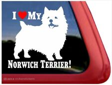 I Love My Norwich Terrier | High Quality Vinyl Dog Window Decal Sticker