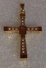 Pendant gold plated cubic zirconia best seller designer stainless Steel Cross