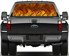 Orange Flame Rear Window Graphic Decal for Truck SUV Vans