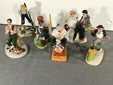 Norman Rockwell Porcelain Figurines Lot of 6 by The Danbury Mint 1980 Very Good