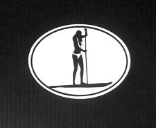 STAND UP PADDLE BOARD SUP GIRL STICKER