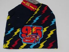 Disney Car Hat Mittens Boy 2T 3T 4T 5T 2 3 4 5 Toddler Cap Blue Lightning McQuee