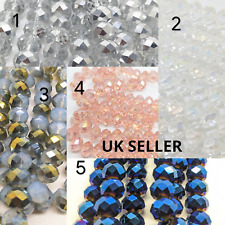 70 Crystal Rondelle Beads For Jewellery Making Size 12mm UK Seller