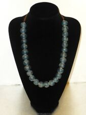 Old Glass Handmade Beads African Necklace with Earrings