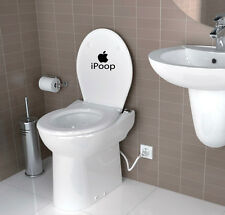 Ipoop Toilet Bathroom wall stickers Decal Funny vinyl wall art