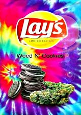 "3.25"" Funny Marijuana Sticker. LAYS ""Weed N' Cookies"" flavor. 420 For your BONG"