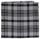 New Milani Men's Pocket Square Hankie Only plaid  checkers Pattern black gray
