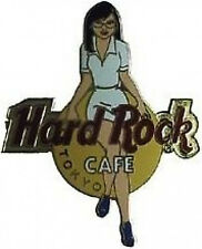Hard Rock Cafe TOKYO JAPAN 2003 Girls of Rock Series PIN WHITE Uniform GOR #1