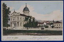 SALUTI DA SCHIO Chiesa di Sant'Antonio viaggiata 1901 f/p #20713