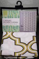 CHD Canvas shower curtain FREDDIE, very nice BRAND NEW (green, brown)