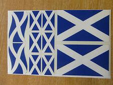 SCOTTISH FLAG STICKERS SHEET SIZE 21cm x 14cm - SALTIRE / SCOTLAND