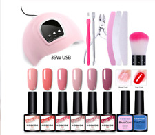 💖 Gel polish STARTER KIT INC 6x GEL + LAMP + Extras FREE WORLDWIDE SHIPPING💖