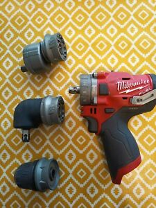 Milwaukee M12 Drill Driver Set with attachments. Bare tool