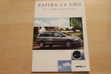 76142) Opel Zafira CNG Prospekt 08/2001