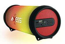 Axess Dancing LED Lights HiFi Bluetooth Rechargeable Speaker (Red) SPBL1043RD