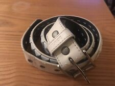 Lowlife Belt - White Studs - Punk - Metal - Skate Size L