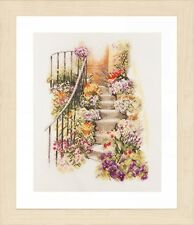Flower Stairs :  Lanarte Counted Cross Stitch Kit - PN0169680