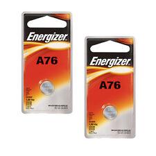 2 pcs Energizer A76 Alkakine Coin 1.5V Batteries Single Pack LR44 357 Exp: 2019