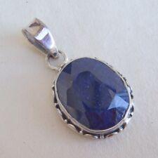 Noble Blue Sapphire Silver 925 Pendant OOAK