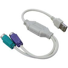 Usb Para Ps 2 Ps2 Adaptador Convertidor De Cable Para Conectar Teclado O Mouse