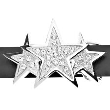 Iced Out Bling Ceinture - TRIPLE STAR argent