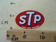 STICKER,DECAL STP LOGO  INDY 500 WINNER OIL GAS ? NOT 100 % OK