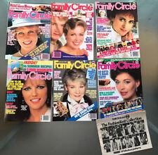 6x Family Circle Magazines JobLot 1984 Jfaaso Princess Diana Torvill & Dean