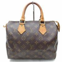 Authentic Louis Vuitton Hand Bag Speedy 25 M41528 Browns Monogram 113764