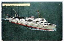 1948 SS Milwaukee Clipper on Lake Michigan Postcard