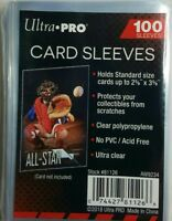 100 ULTRA PRO CARD SLEEVES NO PVC SOFT CLEAR PENNY, FOOTBALL, BASEBALL, POKEMON