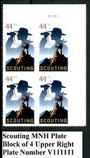 Scouting Boy Scouts MNH Plate Block of 4 UR PL V111111 Scott's 4472