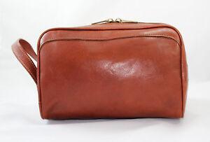 Beauty case Necessaire da Viaggio Uomo Donna Porta trucchi in Vera Pelle