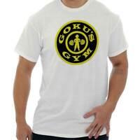 Goku Gym Exercise Workout TV Show Anime Geek Short Sleeve T-Shirt Tees Tshirts