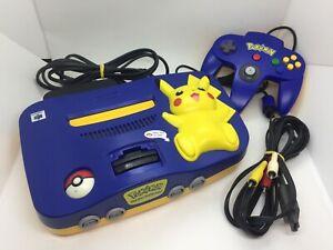 Nintendo 64 Pikachu Edition | N64 Konsole Pokémon | inkl. Kabel & Controller