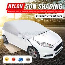 Half Car Cover Waterproof Sun UV Rain Snow Dust Outdoor Indoor Protection M L