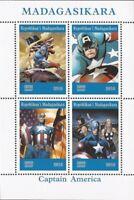 Madagascar - 2019 Captain America - 4 Stamp Sheet - 13D-233